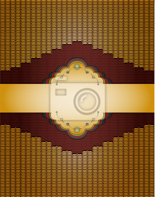 Jahrgang goldenen Hintergrund. Abbildung 10 Version