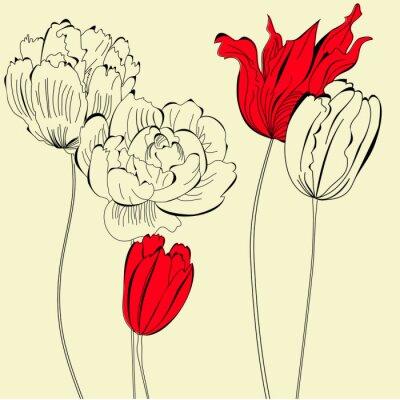 Jahrgang Hintergrund mit Blumen