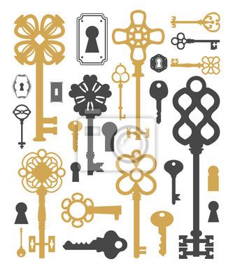 Bild Jahrgang Silhouette Schlüssel. Dekorationsartikel