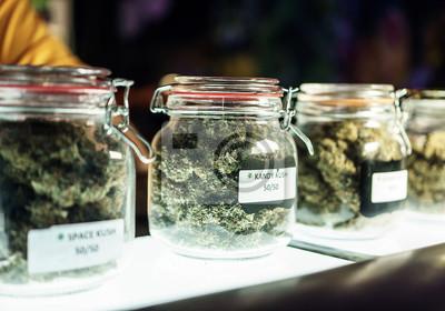 Bild Jars Of Cannabis Flowers
