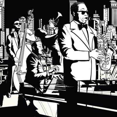 Bild Jazz band playing in New York