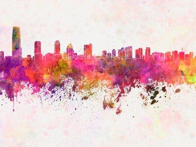 Bild Jersey City skyline in watercolor background