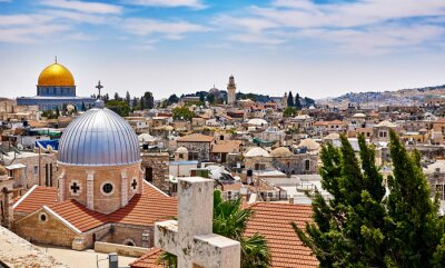 Bild Jerusalem panoramic roof view