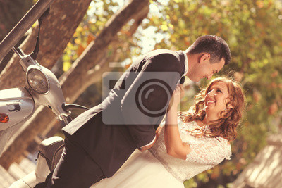 Bild Joyful Hochzeitspaar