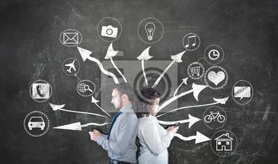 Jugendliche und moderne Technologie-Konzept