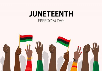 Bild Juneteenth, African-American Independence Day, June 19. Day of freedom and emancipation