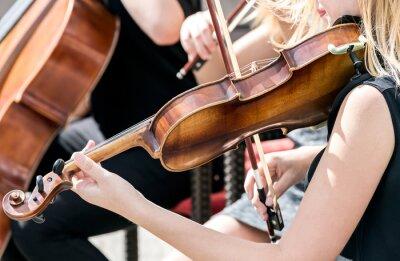 Bild Junge Frau spielt Geige