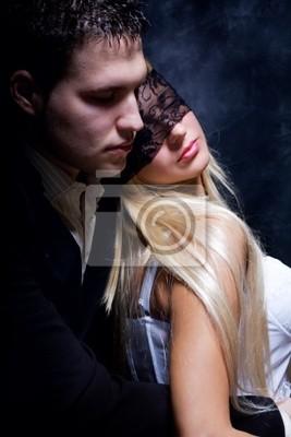 junge Paar in der Liebe, Studio dunklen