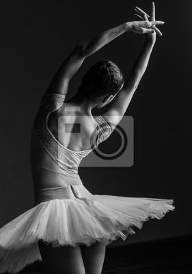 Bild Junge schöne Ballerina posiert im Studio