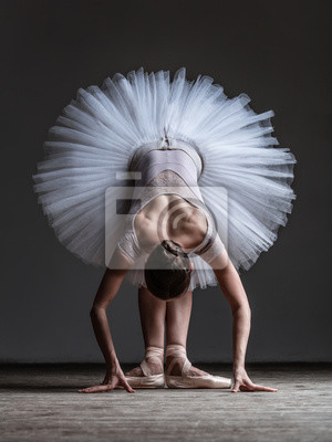 Junge schöne Tänzerin posiert im Studio