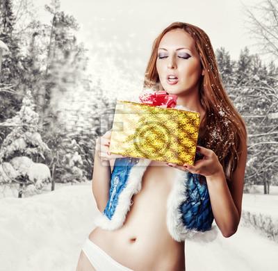 Junge sexy Frau Santa Claus