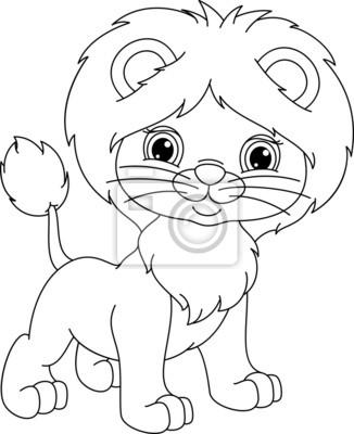 Bild Junger Löwe Malvorlagen