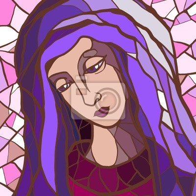 Jungfrau Maria in der Glasmalerei .