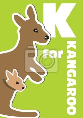 K für das Känguru, ein Tier-Alphabet für Kinder