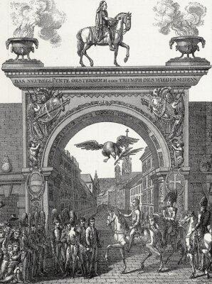 Bild Kaiser Franz I. zieht in Wien ein im Juni 1814, Kupferstichvorlage