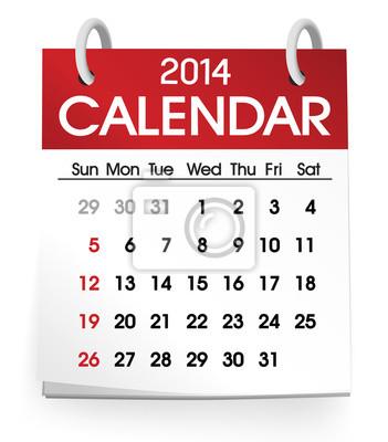 Bild Kalender 2014 Vector