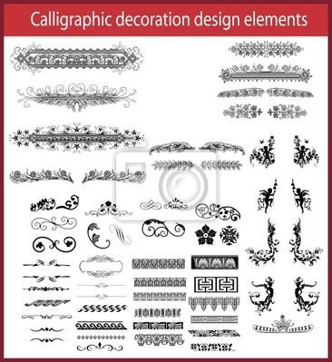 Kalligrafie Dekoration Design-Elemente