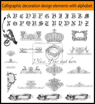 Kalligrafie Dekoration Design-Elemente mit aplhabet