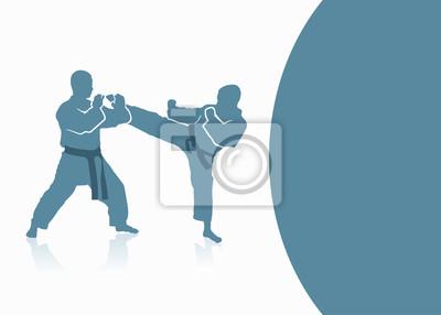 Kampfsport Hintergrund - Vektor-Illustration