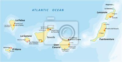 Spanische Inseln Karte.Bild Kanarische Inseln Karte