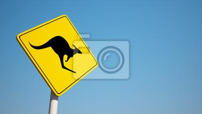 Känguru-Zeichen mit Ausschnitts-Pfad