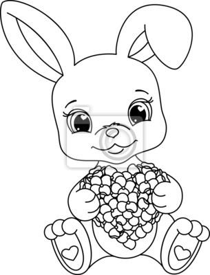 Kaninchen malvorlagen leinwandbilder • bilder nubes, Hase, Nagetier ...