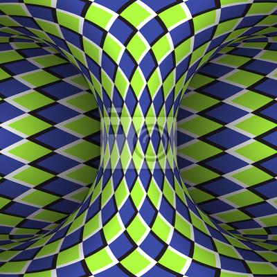 Kariertes Hyperboloid bewegen. Vektor-Illustration der optischen Täuschung.