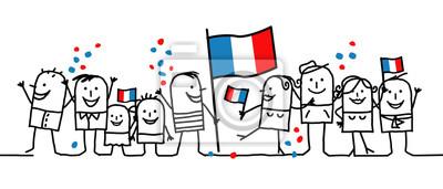 Bild Karikaturleute - nationaler französischer Tag