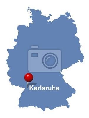 Karlsruhe Auf Der Deutschlandkarte Leinwandbilder Bilder Helm