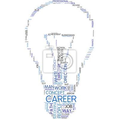 Bild Karriere - Glühbirne Stil
