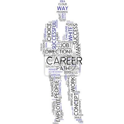 Bild Karriere - Silhouette eines Mannes