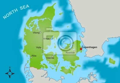 Dänemark Nordsee Karte.Bild Karte Dänemark