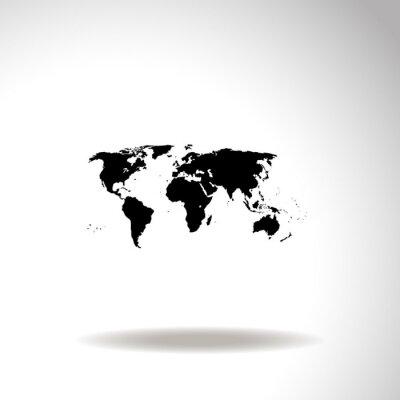Bild Karte der Welt Vektor-Symbol.
