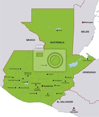 Guatemala Karte.Bild Karte Guatemala Guatemala Landkarte