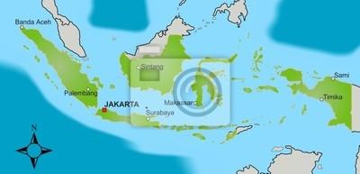 Indonesien Karte.Bild Karte Indonesien