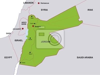 Jordanien Karte.Bild Karte Jordan Landkarte Jordanien