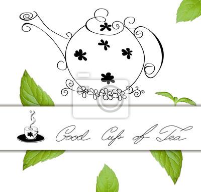 Karte mit Teekanne