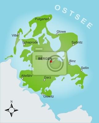 Rügen Karte.Bild Karte Rügen
