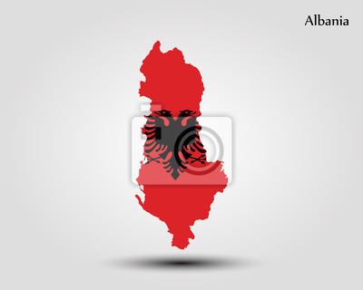 Frohe Weihnachten Albanisch.Bild Karte Von Albanien