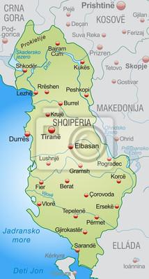 Karte Albanien.Bild Karte Von Albanien Und Nachbarländern