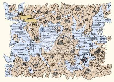 Fantasy Karte.Bild Karte Von Der Fantasy Welt