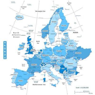 Bild Karte von Europa Stadt