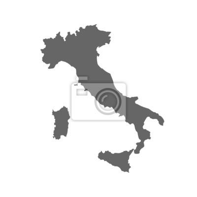 Bild Karte von Italien