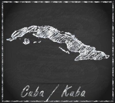 Bild Karte von Kuba