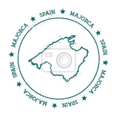 Mallorca Karte Umriss.Bild Karte Von Mallorca Distressed Reise Stempel Mit Text Um Einen