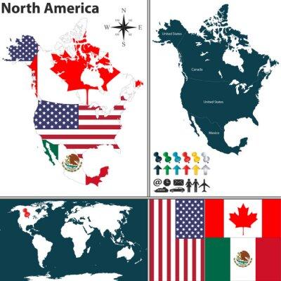 Bild Karte von Nordamerika