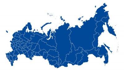 Bild Karte von Russland
