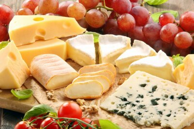 Bild Käsebrett - verschiedene Arten von Käse-Zusammensetzung