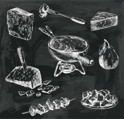 Bild Käsefondue-Skizzen