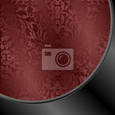 Bild kastanienbraunen und schwarzen Hintergrund mit abstrakten Ornamenten